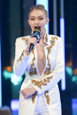 TORONTO, ON - JUNE 19: Gigi Hadid hosts at the 2016 iHeartRADIO MuchMusic Video Awards at MuchMusic HQ on June 19, 2016 in Toronto, Canada. (Photo by George Pimentel/WireImage)