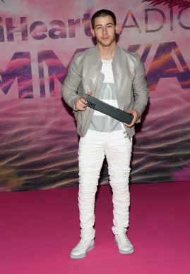 TORONTO, ON - JUNE 19: Nick Jonas poses in the press room at the 2016 iHeartRADIO MuchMusic Video Awards at MuchMusic HQ on June 19, 2016 in Toronto, Canada. (Photo by Sonia Recchia/Getty Images)